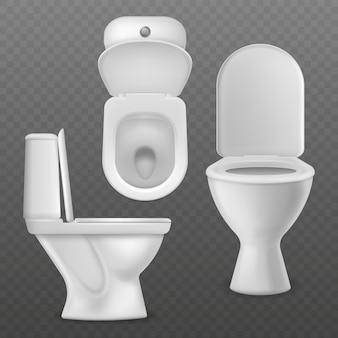Realistische toilettenschüssel.