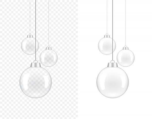 Realistische transparente lampe 3d für innendekoration auf weiß