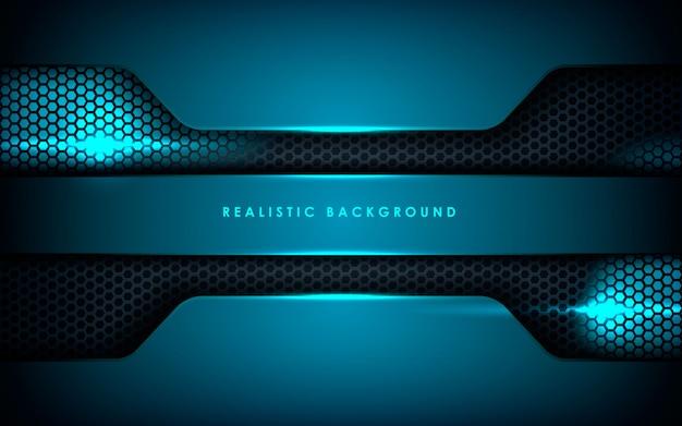 Realistische überlappungsebenen mit blaulicht