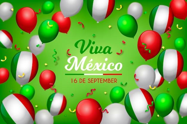 Realistische unabhängigkeit von mexiko - ballonhintergrund