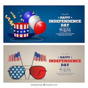 Realistische USA-Unabhängigkeitstag-Banner