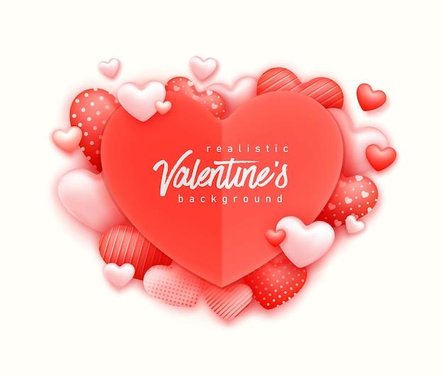 Realistische valentinstag-grußkarte