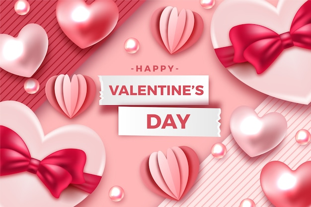 Realistische valentinstag hintergrund