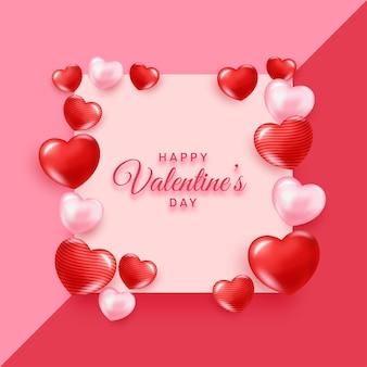 Realistische valentinstag-konzeptkarte
