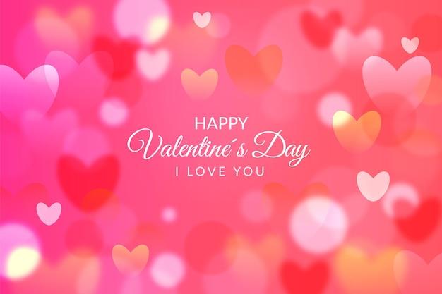 Realistische valentinstag tapete mit herzen