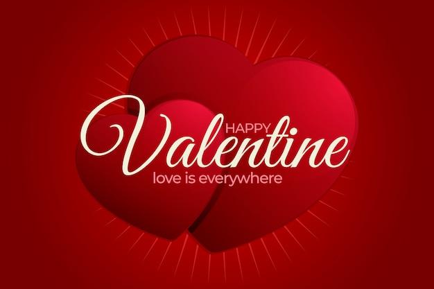Realistische valentinstag tapete