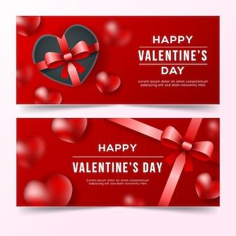 Realistische valentinstagfahnen