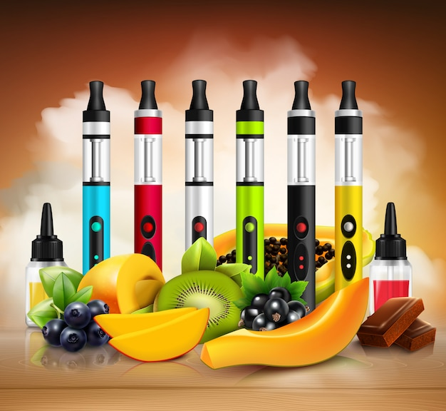 Realistische vaping illustration