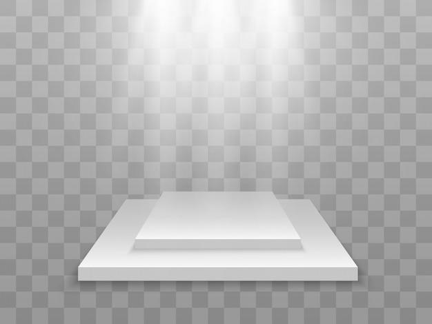 Realistische vektorillustration einer 3d-plattform ein ort, um etwas zu etablieren.