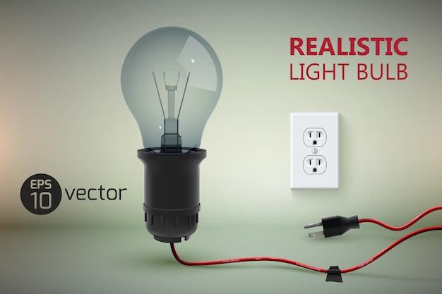 Realistische verdrahtete lampe