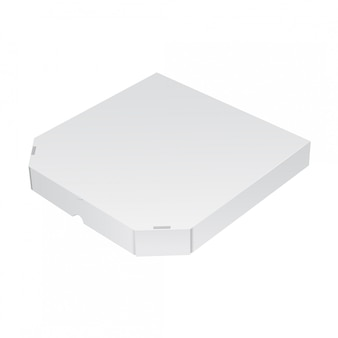 Realistische verpackungsbox für pizza. illustration
