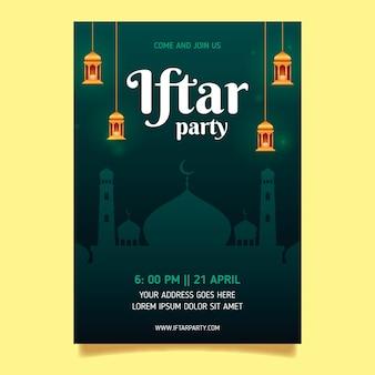 Realistische vertikale postervorlage von iftar