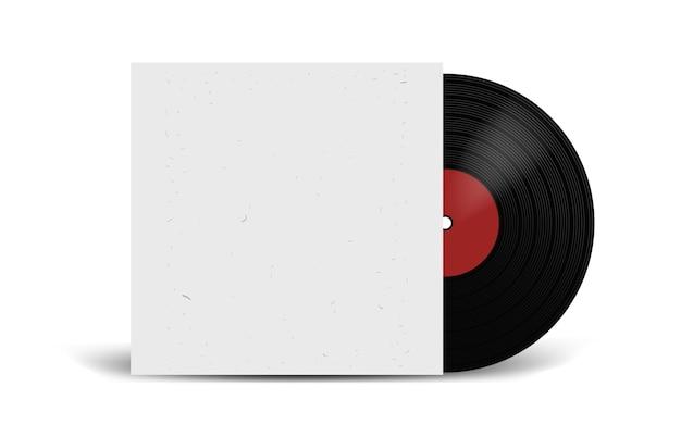 Realistische vinyl-schallplatte mit cover