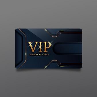 Realistische vip-kartenvorlage mit goldenen details
