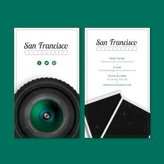 Realistische visitenkarte für ein fotostudio
