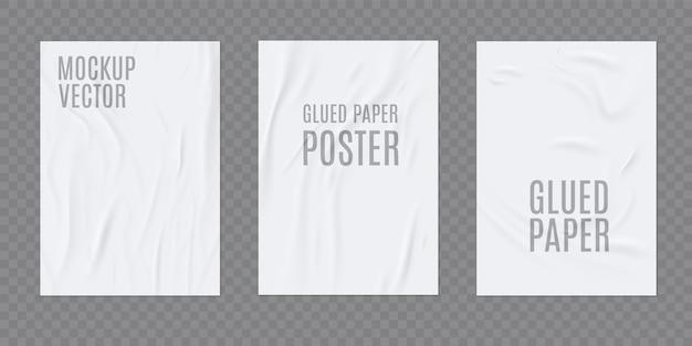 Realistische vorlage aus zerknittertem papier
