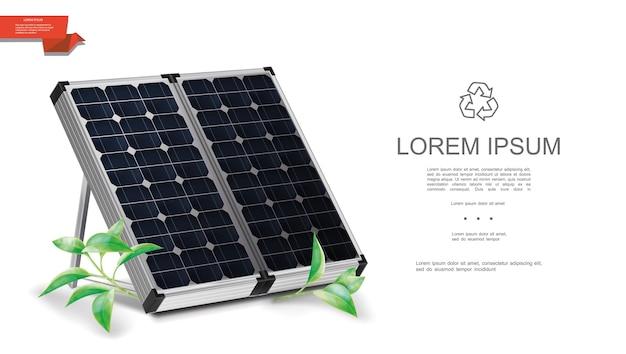 Realistische vorlage für erneuerbare energien