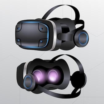 Realistische vr-headset-illustration