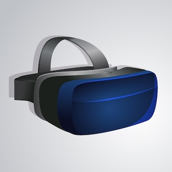 Realistische vr-headset-illustration