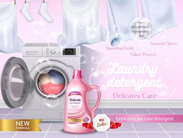 Realistische waschmittelanzeige