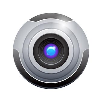 Realistische webcam. abbildung auf weiß