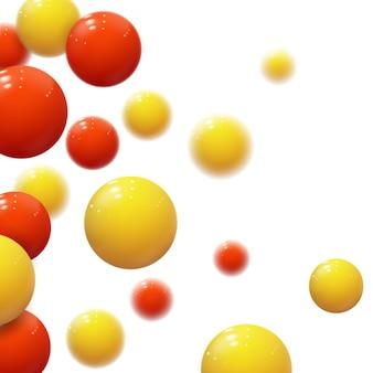 Realistische weiche kugeln. plastikblasen. glänzende kugeln.
