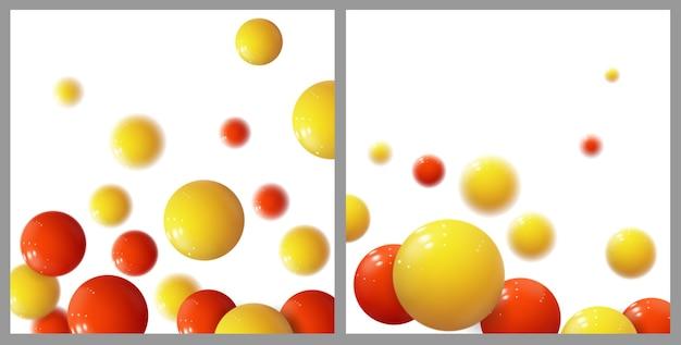 Realistische weiche kugeln. plastikblasen.