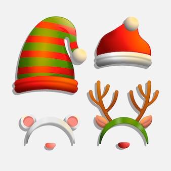 Realistische weihnachten charakter hüte