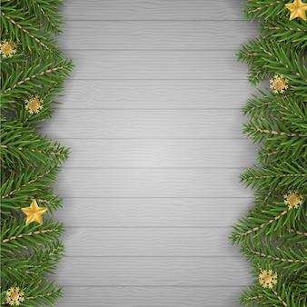 Realistische weihnachten festlichen hintergrund