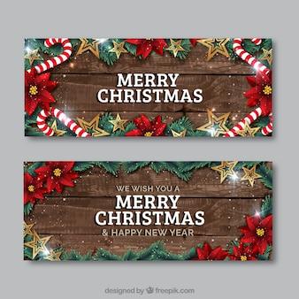 Realistische weihnachten flyer