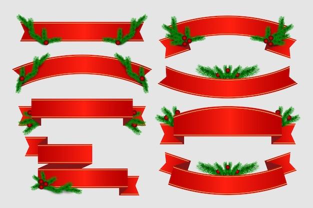 Realistische weihnachtsband-sammlung