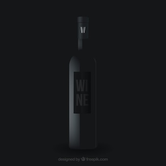 Realistische weinflasche design