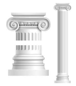 Realistische weiße antike säule