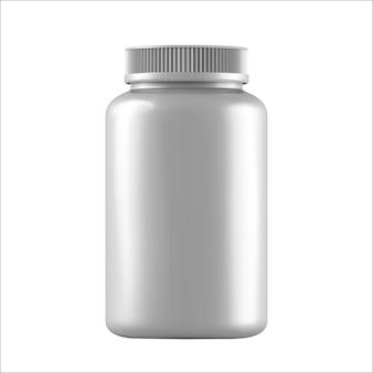 Realistische weiße flaschen für drogen, die auf weiß isoliert werden