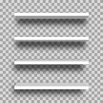 Realistische weiße leere ladenregale