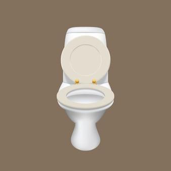 Realistische weiße toilette