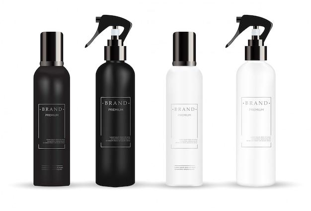 Realistische weiße und schwarze kosmetik