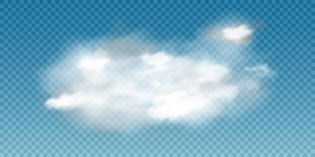 Realistische weiße wolke. 3d rauch oder nebel.
