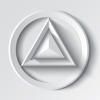 Realistische weißen geometrischen dreieck