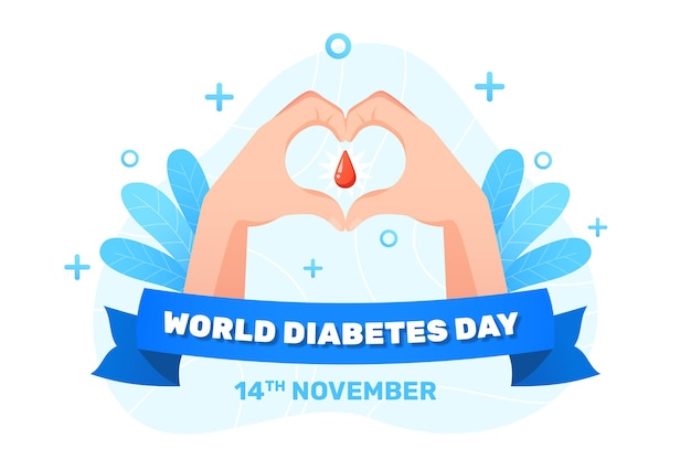 Realistische weltdiabetestagillustration