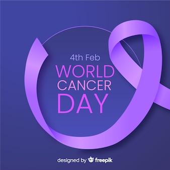 Realistische weltkrebs-tageshintergrund