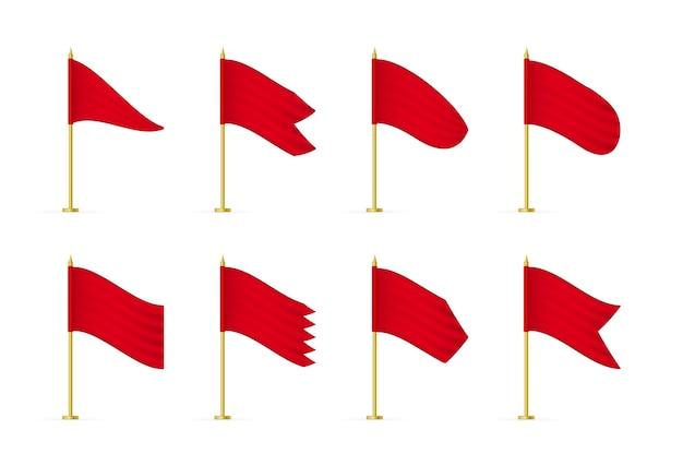 Realistische werbetextilflaggen
