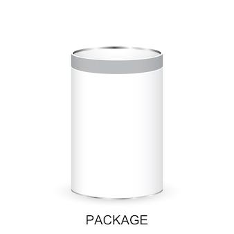 Realistische white package bank