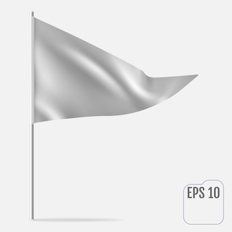 Realistische wimpelschablone. dreiecksflagge