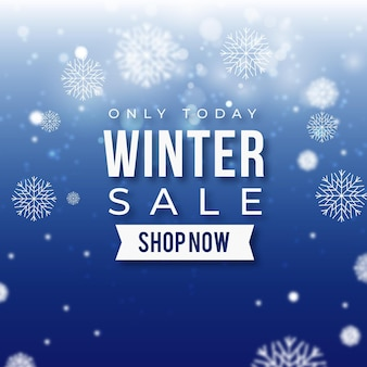 Realistische winterverkaufsaktion