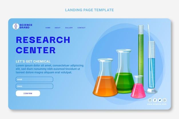 Realistische wissenschaftliche webvorlage