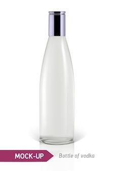 Realistische wodkaflasche oder andere ginflasche
