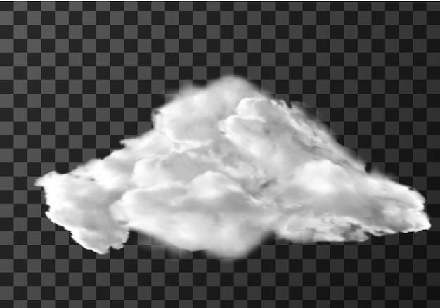 Realistische wolke auf transparent