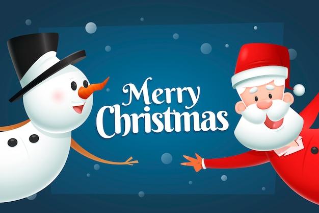 Realistische zeichentrickfiguren weihnachten