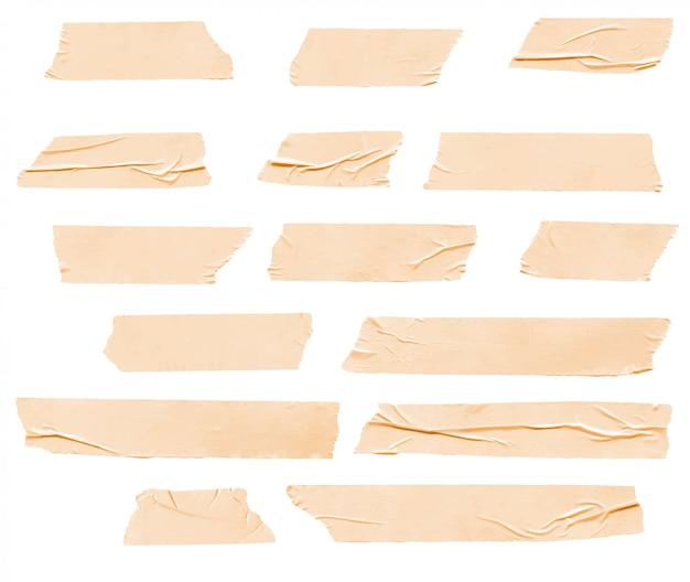 Realistische zerknitterte washi tape sammlung